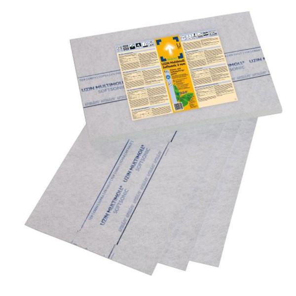 UZIN Multimoll Softsonic 3mm Trittschalldämmende Unterlage mit geringer Aufbauhöhe für geklebte Parkettverlegung auf Bodenchemie.de