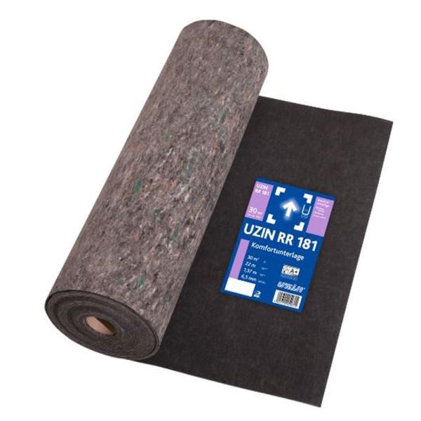 UZIN RR 181 Selbsthaftende, wieder entfernbare Dämmunterlage für textile Bodenbeläge auf Bodenchemie.de