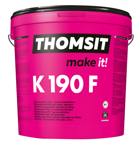 Thomsit PCI K 190 F Faserverstärkter Kautschuk- und PVC-Belagkleber