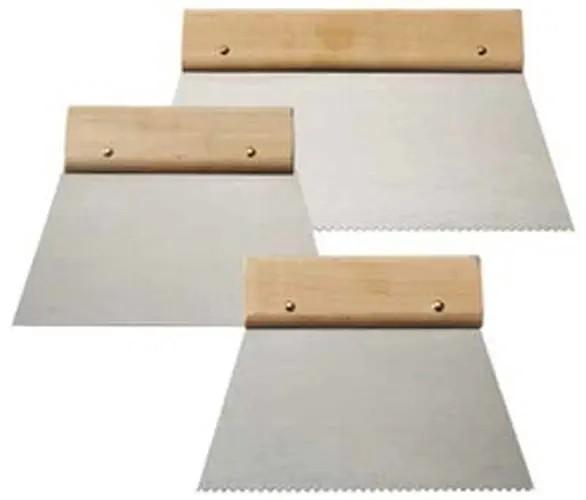 Klebespachtel Zahnung B1 mit Holzgriff 18cm breit