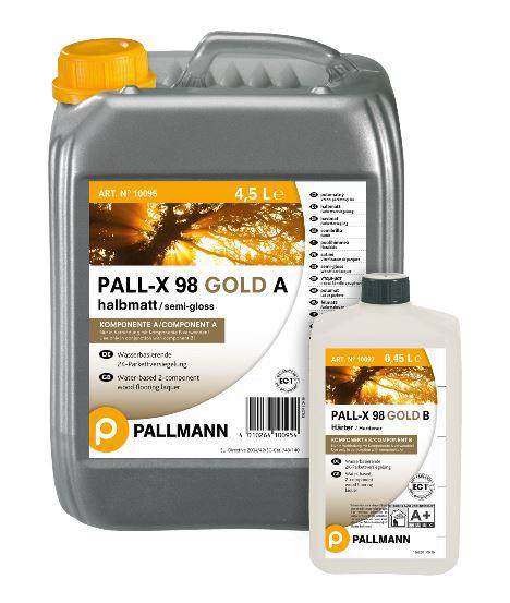 Palmann PALL-X 98 GOLD halbmatt 2K-Parkettversiegelung 4.95L auf DeinBoden24.de